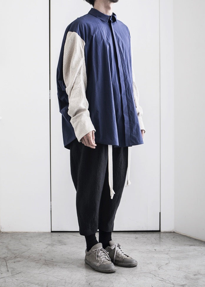 CIRCLE SHIRT L/S with STRIPE SLEEVES