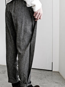 LINEN SIDE LAP PANTS