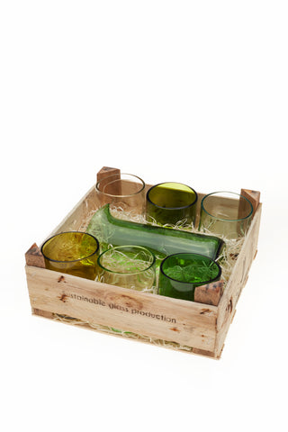 Set of 6 glasses and jug