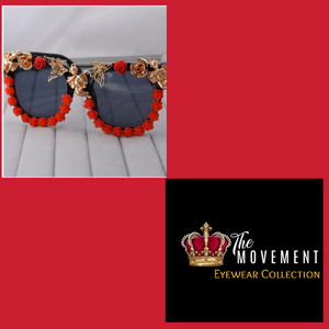 Royalty Red Rose Sunglasses