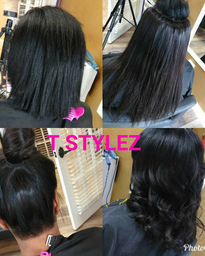 Braidless microlinks sew in