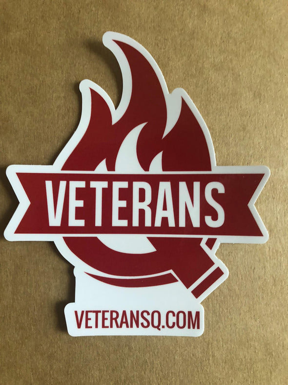 Veterans Q Sticker (Die Cut)