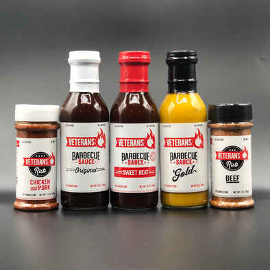 Complete Pack (3 Sauces, 2 Rubs)