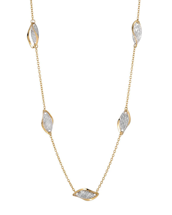 MILLANA Made In Italy 14K Gold Ladies Necklace Weight 2.9g. Length 18 in