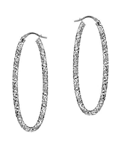 MILLANA Made In Italy 14K Gold Hoop Ladies Earrings Weight 4.2g. Length 55 mm