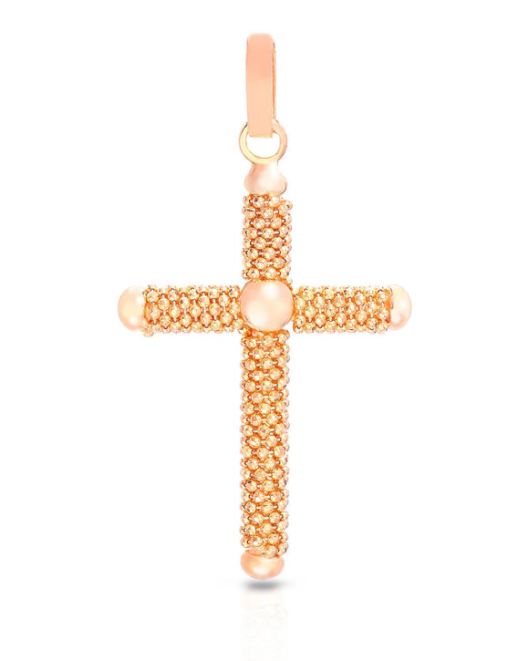 MILLANA Made In Italy Sterling Silver Cross Ladies Pendant Length 53 mm