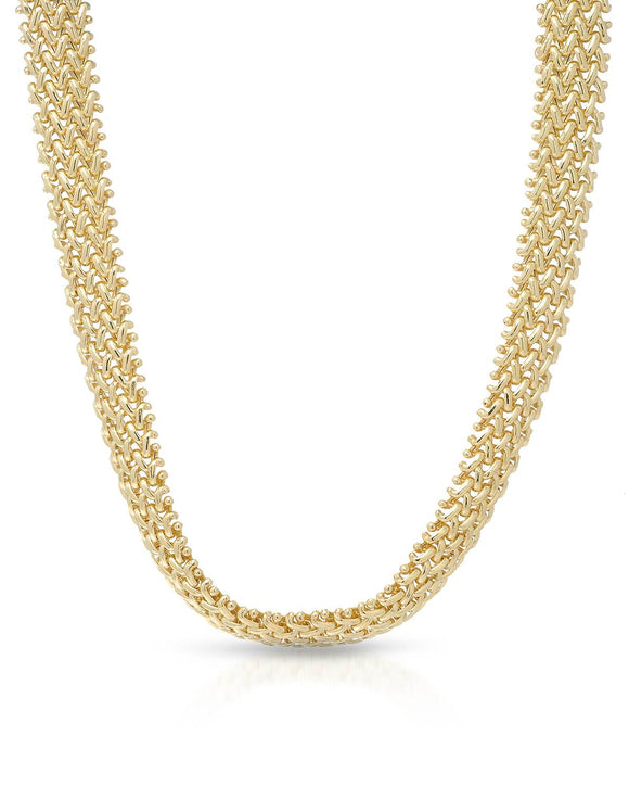 MILLANA Made In Italy Gold Plated Silver Ladies Necklace Length 18 in