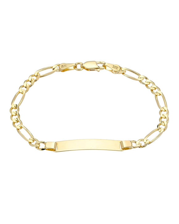 GOLDEN ARC JEWELRY Made In Italy 14K Gold Unisex Bracelet Length 6 in