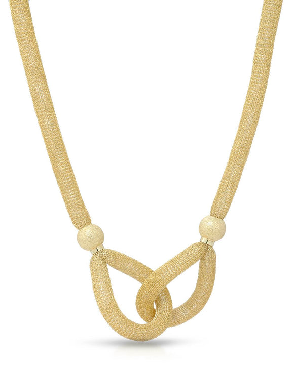 MILLANA Made In Italy Gold Plated Silver Ladies Necklace Weight 16.5g.