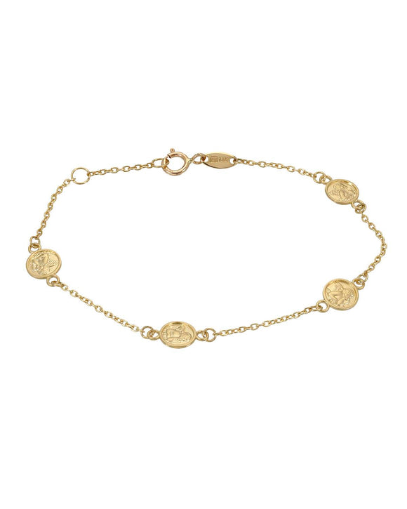 MILLANA Made In Italy 14K Gold Ladies Bracelet Weight 1.2g.