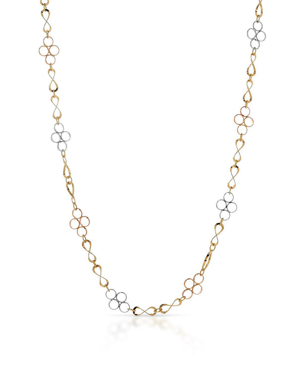 14K Gold Ladies Necklace Weight 2.9g. Length 18 in