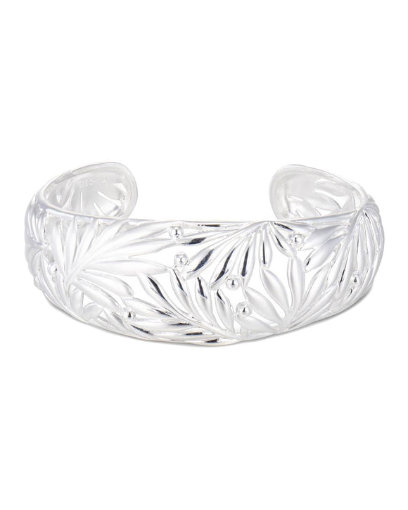 Sterling Silver Cuff Ladies Bracelet Weight 28.0g. Length 7 in