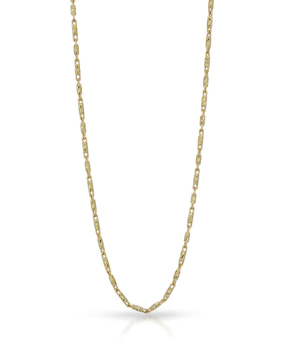MILLANA Made In Italy 14K Gold Ladies Necklace Weight 4.3g. Length 18 in