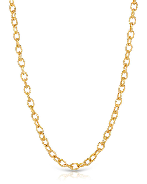 MILLANA Made In Italy 14K Gold Ladies Necklace Weight 3.8g. Length 18 in