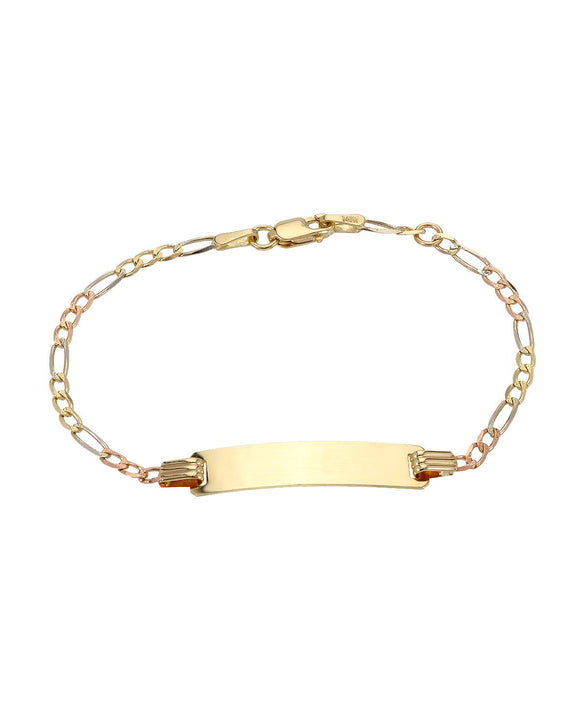 GOLDEN ARC JEWELRY Made In Italy 14K Gold Unisex Bracelet Weight 2.6g.