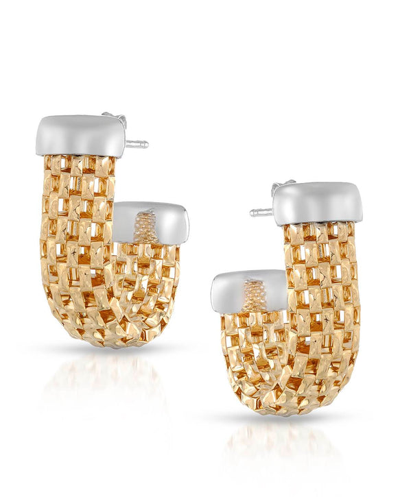 MILLANA Made In Italy Gold Plated Silver Ladies Earrings Length 24 mm