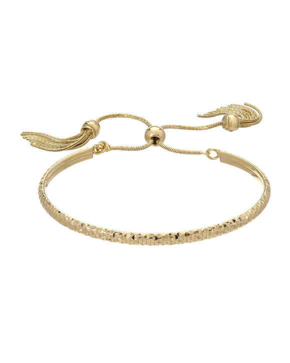 MILLANA Made In Italy Gold Plated Silver Bangle Ladies Bracelet Length 6.5 in