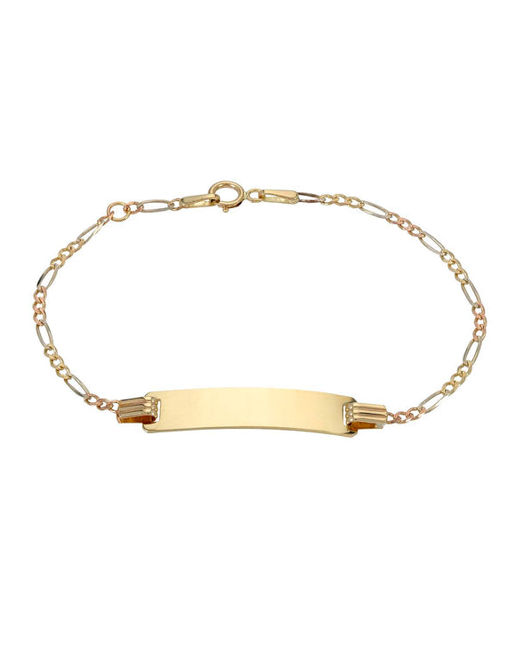 GOLDEN ARC JEWELRY Made In Italy 14K Gold Unisex Bracelet Weight 2.1g.