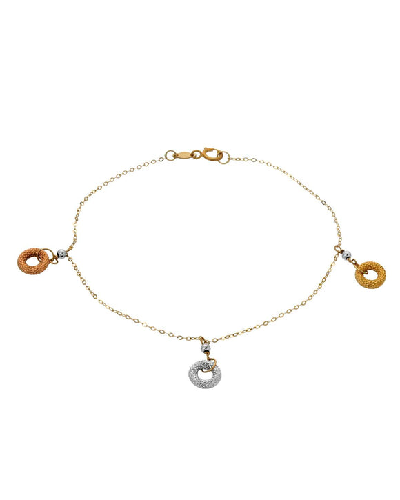 MILLANA Made In Italy 14K Gold Ladies Bracelet Weight 1.1g. Length 7 in