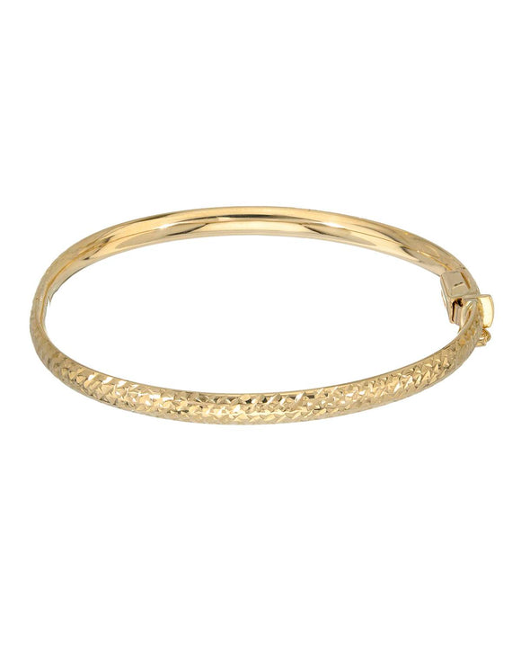 GOLDEN ARC JEWELRY Made In Italy 14K Gold Bangle Ladies Bracelet Length 5.5 in