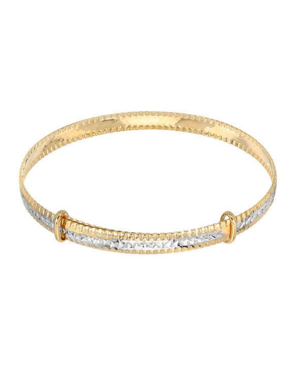 GOLDEN ARC JEWELRY Made In Italy 14K Gold Bangle Ladies Bracelet