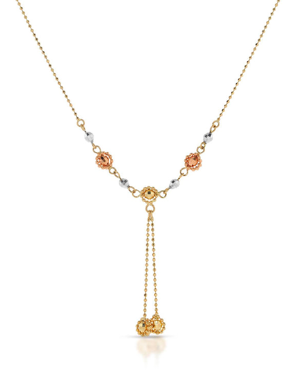 14K Gold Ladies Necklace Weight 3.1g. Length 18 in