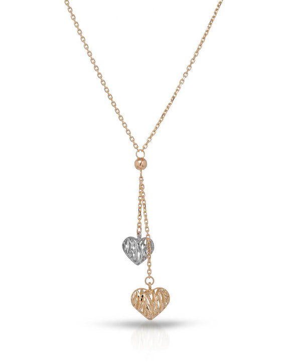 Hand Made Hand Made MILLANA Made In Italy 14K Gold Heart Ladies Necklace