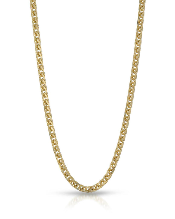 MILLANA Made In Italy 14K Gold Unisex Necklace Weight 3.9g. Length 16 in