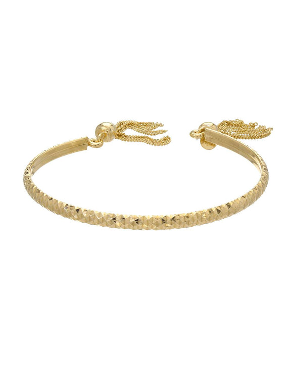 MILLANA Made In Italy Gold Plated Silver Cuff Ladies Bracelet Length 7 in