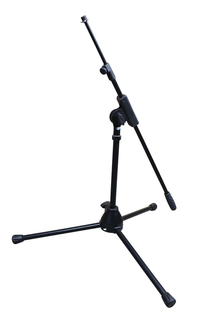 Artist MS010 Small Black Mic Stand with Short Telescopic Boom