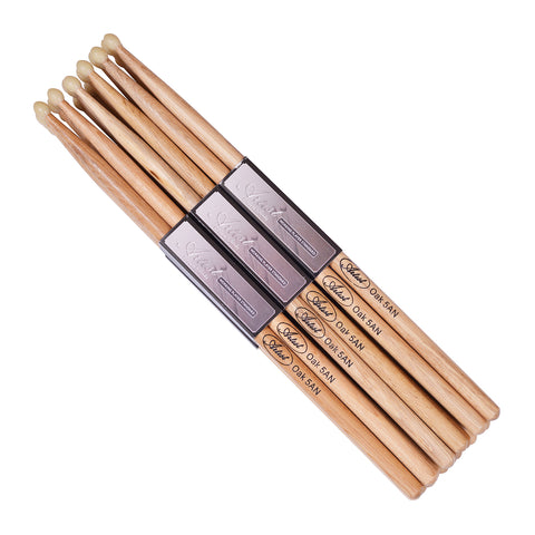 Artist DSO5AN 12 Pairs of 5A Oak Drum sticks with Nylon Tips