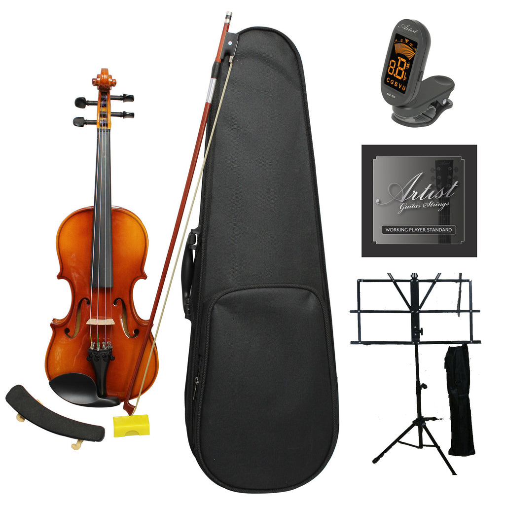 Artist SVN44 Solid Wood Violin Ultimate Package 4/4 - Full Size