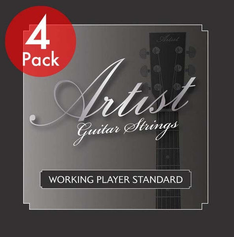 Artist 4 Pack ACST1047 Acoustic Guitar Steel Strings Gauge 10-47