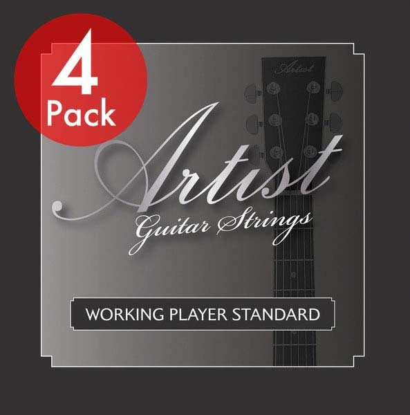 Artist 4 Pack ACST1152 Acoustic Guitar Steel Strings Custom Light 11-52