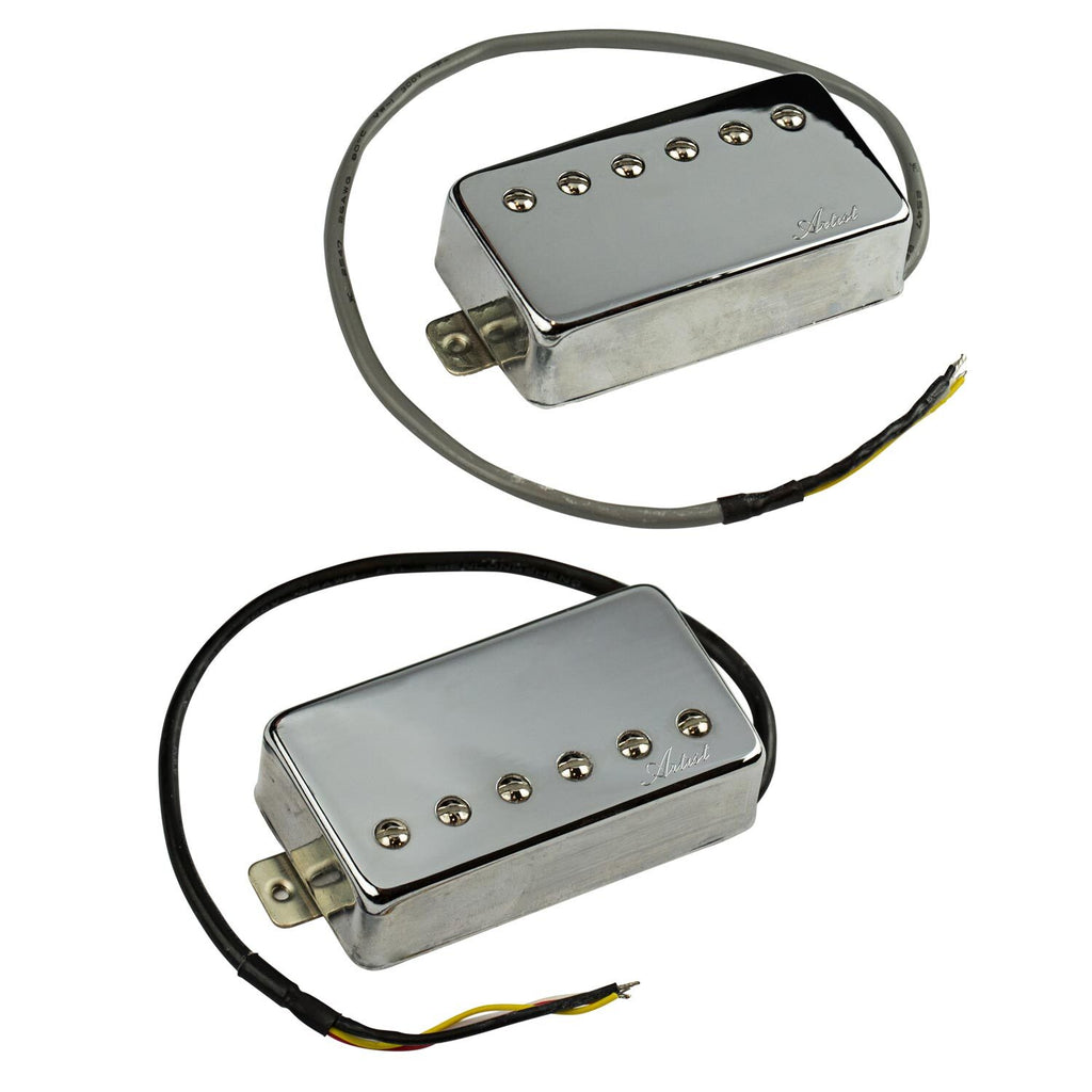 Artist BullBucker Guitar Humbucker Pickup Set - Chrome Covered