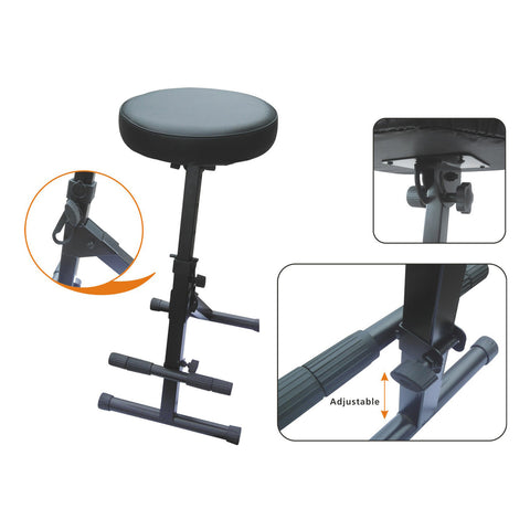 Artist KB009 Professional Guitarist Stool with Footrest