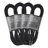 Artist GX15 15ft (4.5m) Deluxe Guitar Cable/Lead - 4 Pack