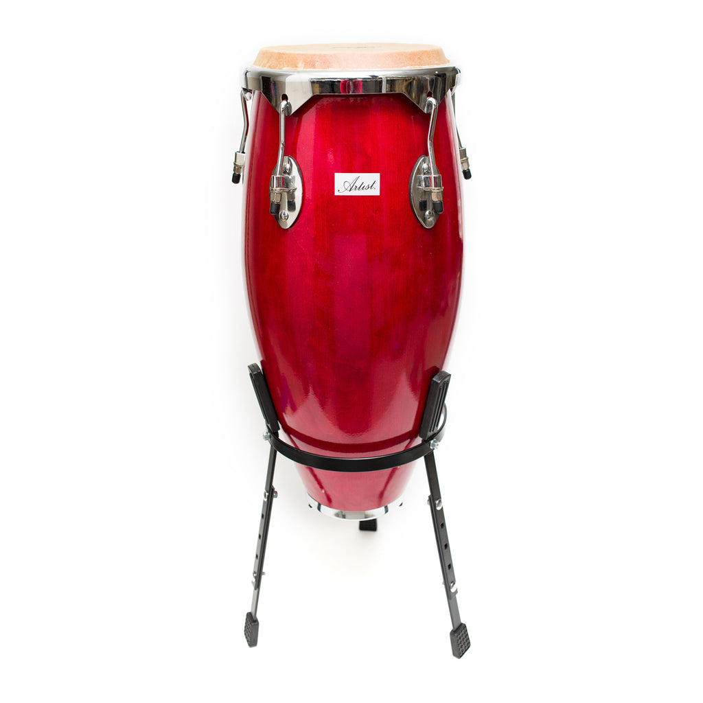 Artist CG10 Red Conga Drum - 10 Inch + Stand
