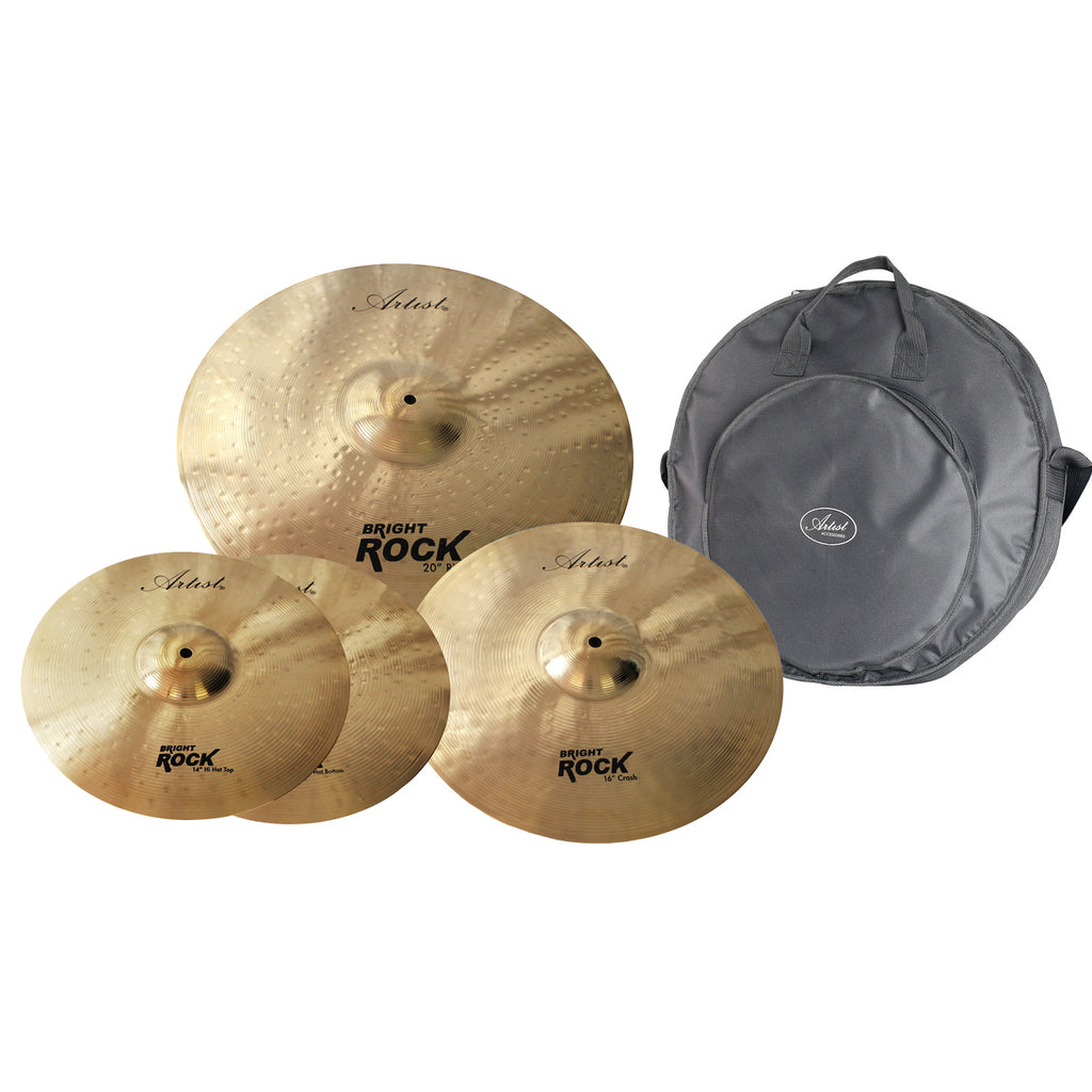 Artist BRPK Bright Rock Cymbal Pack  + Bag