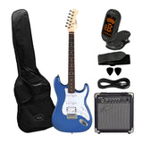 Artist STH Metallic Blue Electric Guitar with 10 Watt Amp