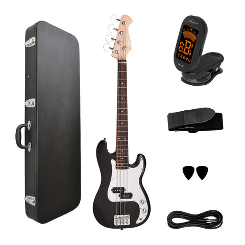 Artist MiniP 3/4 Size Electric Bass Guitar + Accessories + Hard Case