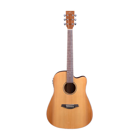 Artist DCA100CEQ Solid Top Dreadnought Acoustic Electric Guitar