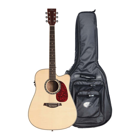 Artist DS120CEQ Acoustic Electric Guitar Solid Top Dreadnought + Bag