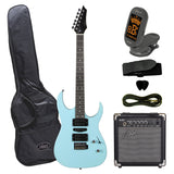 Artist AG45 Sonic Blue Electric Guitar Plus Accessories with Amp