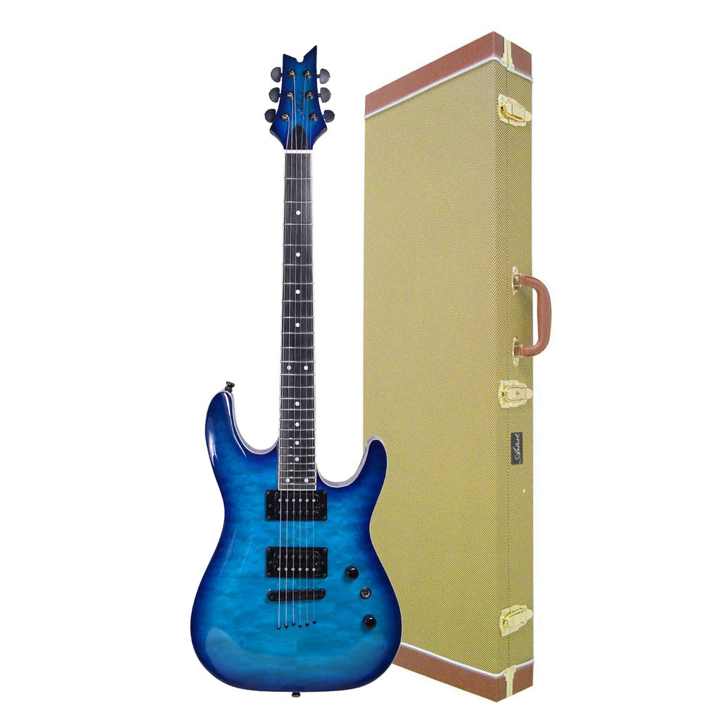 Artist GNOSIS6 Blue Cloud Super ST Style Electric Guitar + Tweed Case