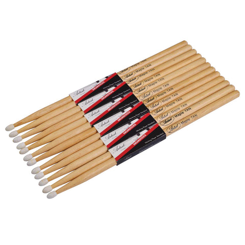 Artist DSM7AN Maple Drumsticks with Nylon Tips 6 Pack