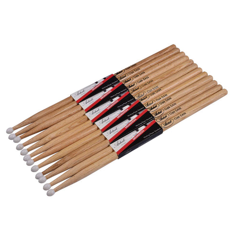 Artist DSO5AN Oak Drumsticks with Nylon Tips 6 Pack