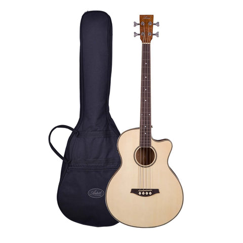 Artist ABJ60CEQ Acoustic Electric Bass with Cutaway and EQ with Bag