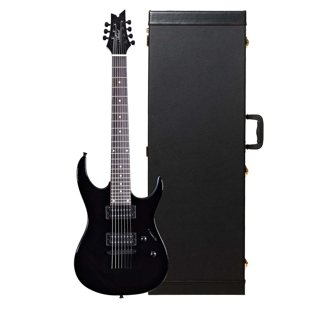 Artist Spiritus7 Black Gloss 7 String Electric + Black Hard Case
