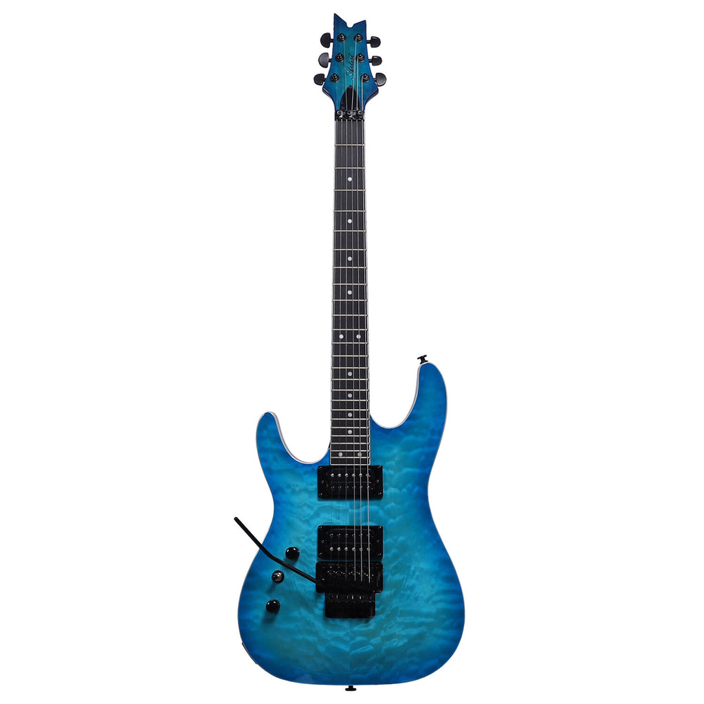 Artist GNOSIS6FRL Left-Handed Blue Cloud Electric with Floyd Rose